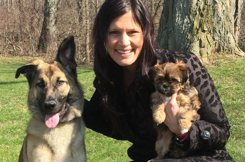 Marcia Cota and her two dogs