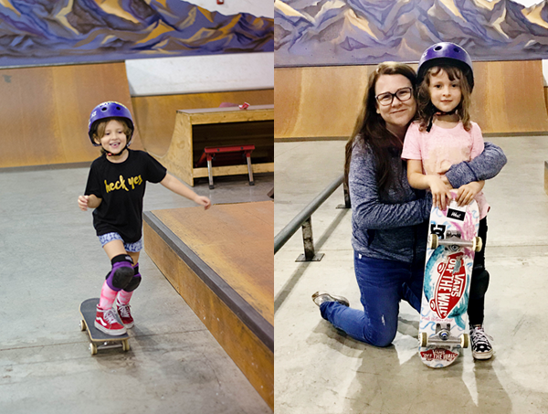 Rylie loves skateboarding