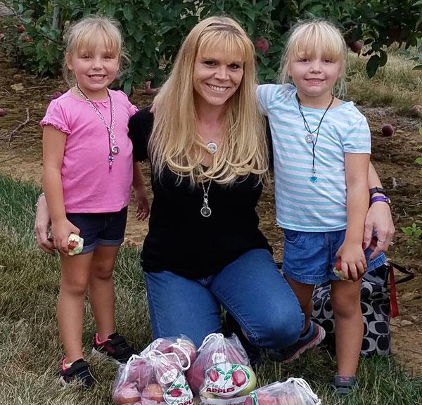 Cervical cancer survivor Jessica Hatke and her miracle twins
