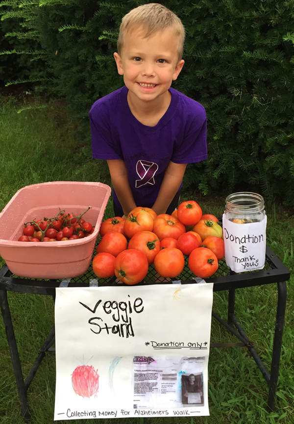 Callen Stephens Produce Stand Raises Money for Alzheimers